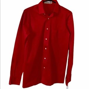 CHRISTIAN DIOR men's shirt RED made in ITALY